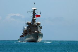 Chilean_Navy_frigate_CS_Almirante_Riveros_(FF_18)_steams_past_Hickam_Air_Force_Base